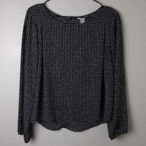XXI Los Angeles Long Sleeve Button Back Blouse